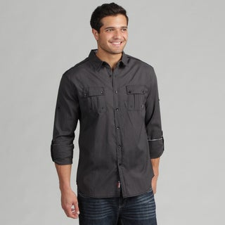 191 Unlimited Men's Black Woven Shirt