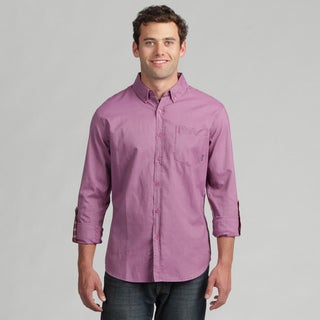 191 Unlimited Mens Solid Purple Woven Shirt