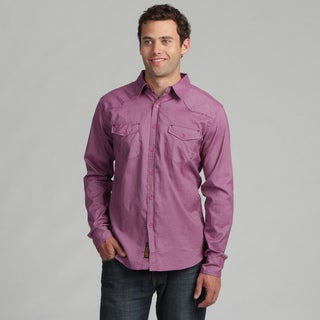 191 Unlimited Mens Light Purple Woven Shirt