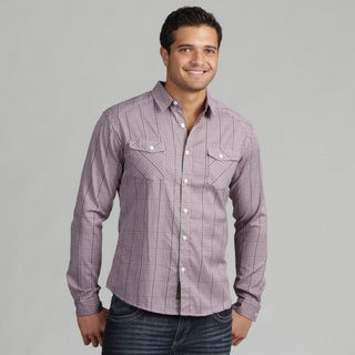 191 Unlimited Mens Plaid Woven Shirt