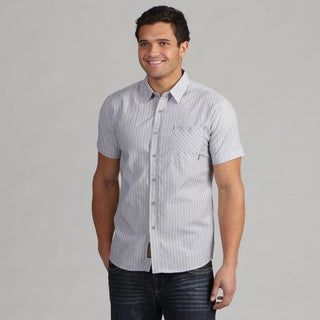 191 Unlimited Men's Grey Stripe Shirt