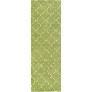 Safavieh Handmade Moroccan Chatham Green Wool Rug (2'3 x 7')