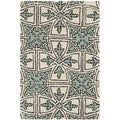 Safavieh Handmade Moroccan Chatham Majestic Light Blue/ Ivory Wool Rug (2' x 3')
