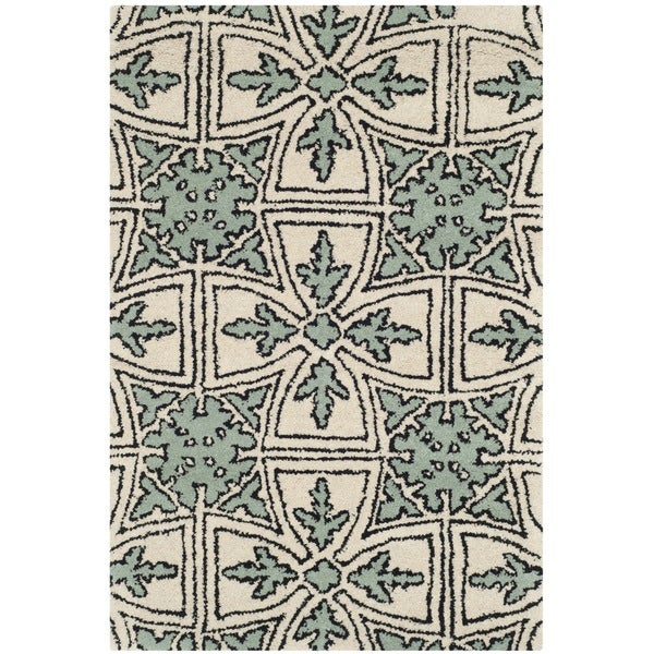 Safavieh Handmade Moroccan Chatham Majestic Light Blue/ Ivory Wool Rug (2' x 3')