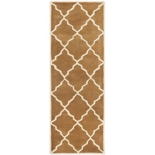 Safavieh Handmade Moroccan Chatham Brown Wool Rug (2'3 x 7')