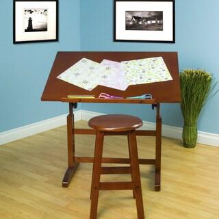Offex Creative Table/ Stool Set (Walnut)