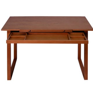 Offex Ponderosa Wood Topped Table (Sonoma Brown)