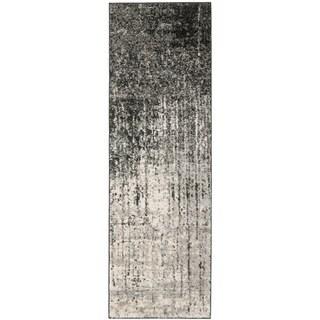 Deco Inspired Black/ Grey Rug (2'3 x 7')