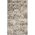 Deco-Inspired Beige/Light Gray Abstract Rug (3' x 5')