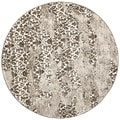 Contemporary Deco-Inspired Beige/Light Gray Rug (6' Round)