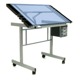 Offex Vision Craft Station ( Silver/Blue Glass)
