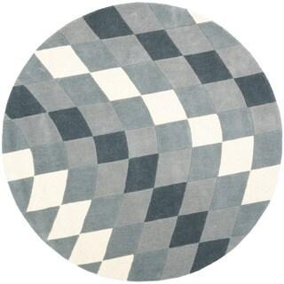 Safavieh Handmade New Zealand Wool Matrix Grey Rug (6' Round)