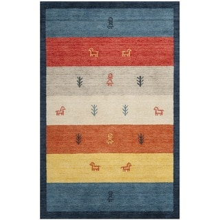 Handmade Gabeh Journey Bluel Wool Rug