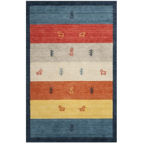 Safavieh Handmade Gabeh Journey Bluel Wool Rug
