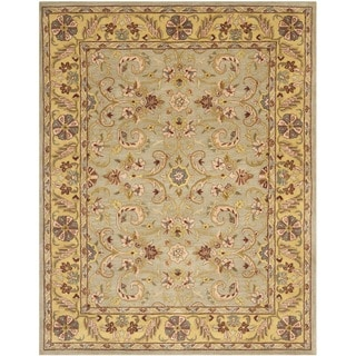 Handmade Heritage Kerman Grey/ Gold Wool Rug