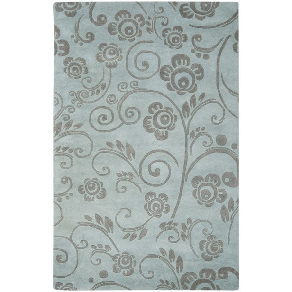 Safavieh Handmade Soho Scrolls Grey New Zealand Wool Rug