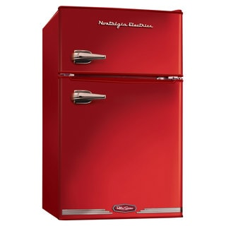 Nostalgia Electrics Red Retro Series 3.1-Cubic Foot Compact Refrigerator Freezer