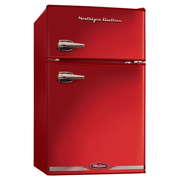 Nostalgia Electrics Red Retro Series 3.0-Cubic Foot Compact Refrigerator Freezer