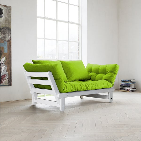 Fresh Beat Lime Futon Sofa Bed
