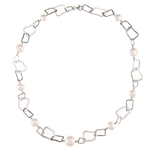 Kabella Sterling Silver Freshwater Pearl Short Irregular Shape Necklace