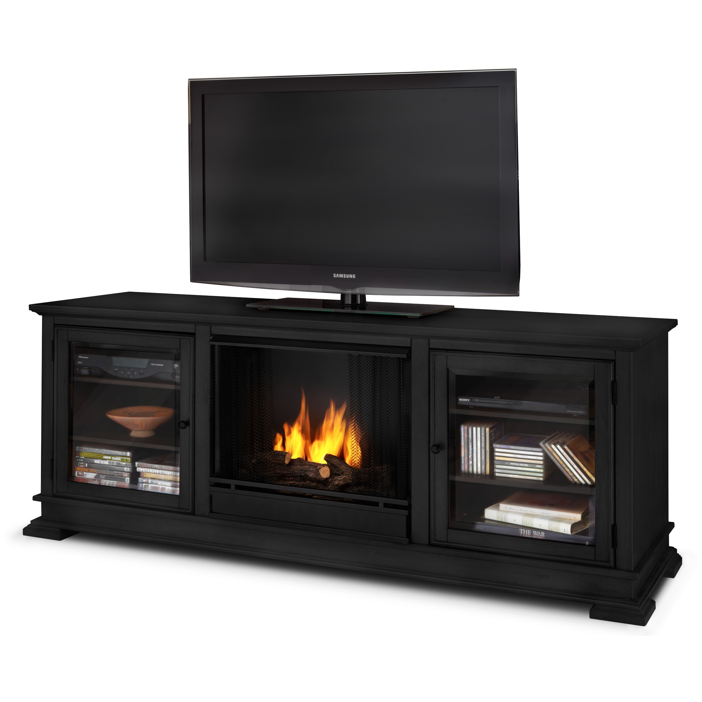 Real Flame Hudson Real Flame Black Ventless Gel Fireplace at Sears.com
