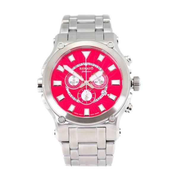 Renato Men's Stainless Steel Calibre Robusta Swiss Quartz Chronograph Bracelet Watch