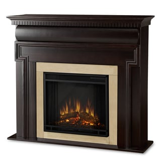 Mt. Vernon Real Flame Dark Walnut Electric Fireplace