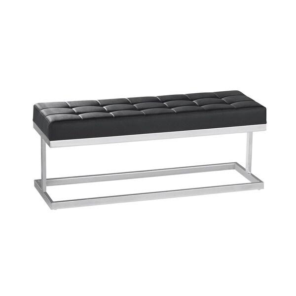Sunpan Modern Viceroy Faux Leather Bench 9982247