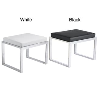 Sunpan Black/ White Oliver Stool