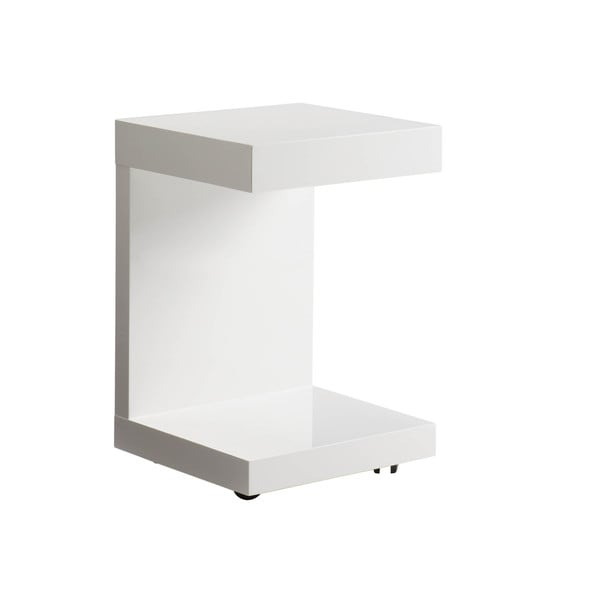 Sunpan 'Ikon' Bachelor Gloss White TV Table with Drawer