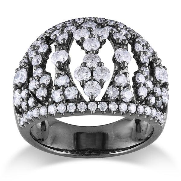 Miadora 14k White Gold 2ct TDW Diamond Ring (G-H, SI1-SI2)