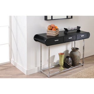 Elvy Contemporary Three Drawer Black Sofa Table