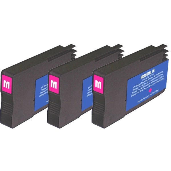 HP 951XL Magenta Ink Cartridge (Pack of 3) (Remanufactured)