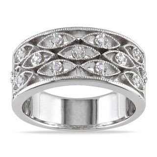 Haylee Jewels Sterling Silver Diamond Accent Ring