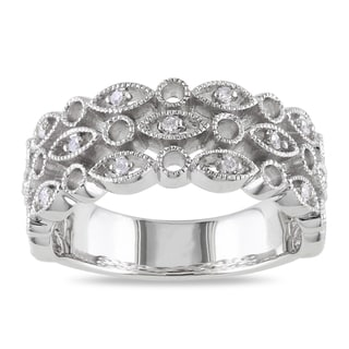 M by Miadora Sterling Silver Round-cut Diamond Accent Ring