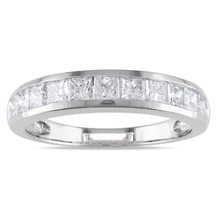 Miadora 14k White Gold 1ct TDW Diamond Anniversary Ring (G-H, I1-I2)