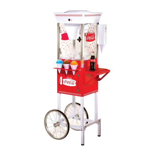 Nostalgia Electrics Coca-Cola Series Old Fashioned Snow Cone Cart