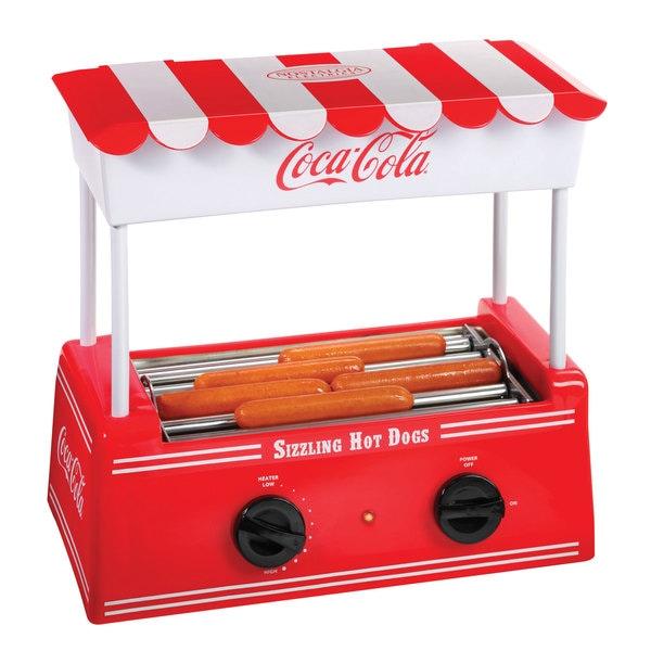 Nostalgia HDR565COKE Coca-Cola Hot Dog Roller with Bun Warmer 9982452