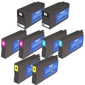 HP 951XL/950XL Black/Colors Ink Cartridge (Pack of 8) (Remanufactured)