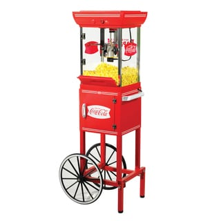 Nostalgia Electrics Coca-Cola Series 48-inch Old Fashioned Movie Time Popcorn Cart