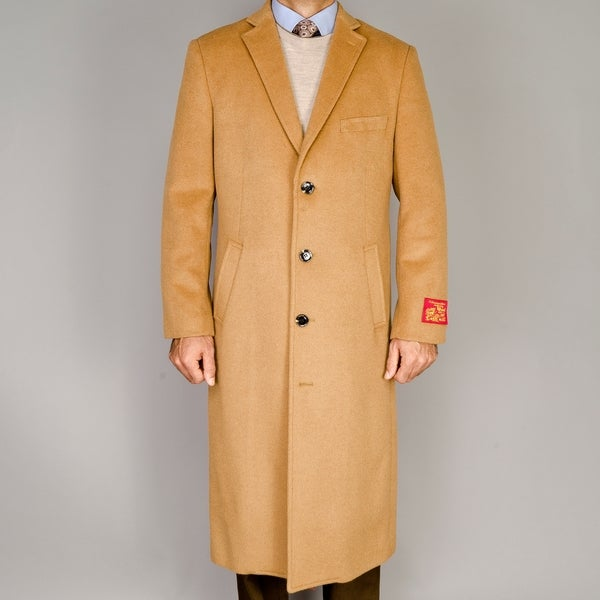 Camel wool cashmere blend topcoat 14811943 overstock com shopping