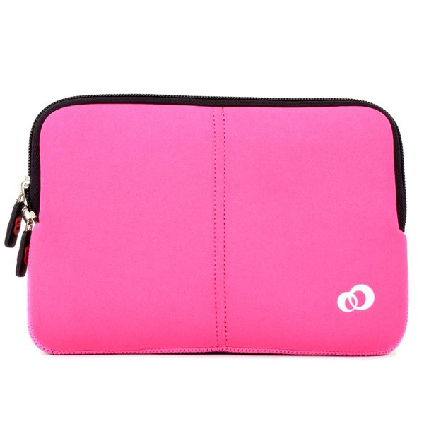 Kroo Pink / Magenta Slim Carrying Sleeve for 10-inch Tablets and Notebooks