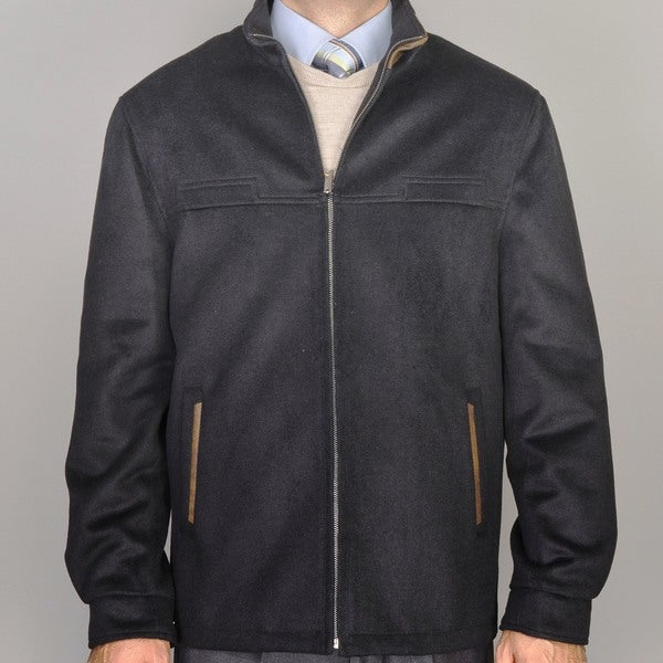 Men's Black Wool/Cashmere Blend Modern Fit Jacket