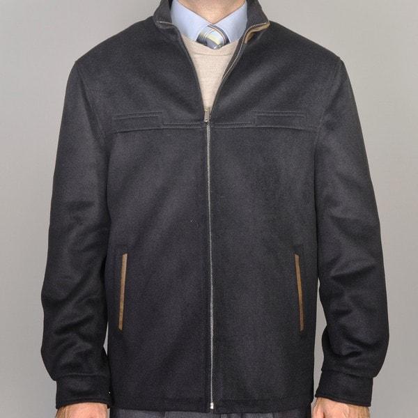 Men's Black Wool/Cashmere Blend Modern Fit Jacket