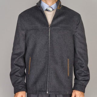 Mantoni Charcoal Grey Wool/Cashmere Blend Modern Jacket