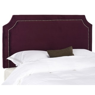 Safavieh Shayne Eggplant Purple Queen Headboard
