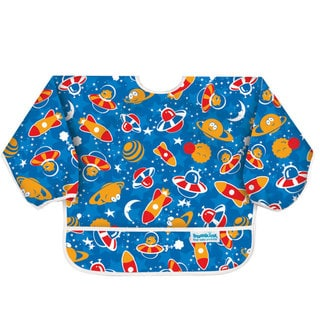 Bumkins Space Bear Waterproof Sleeved Bib