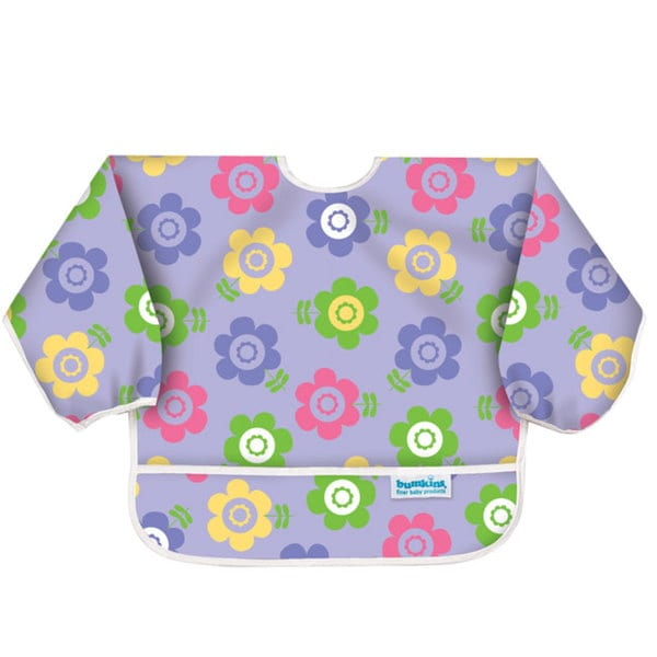 Bumkins Flower Garden Waterproof Sleeved Bib