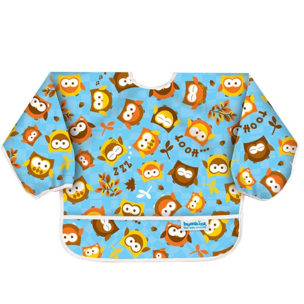 Bumkins Owls Waterproof Sleeved Bib