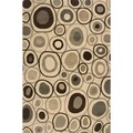 Hand-tufted Beige/ Grey Wool Area Rug